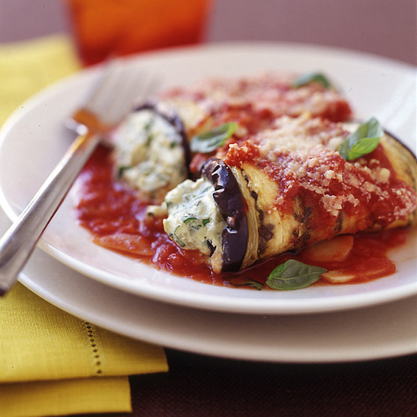 Eggplant Rollatini with Tomato-Basil Sauce