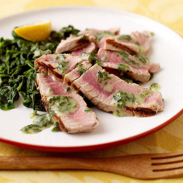Grilled Tuna With Herb Butter Recipes Ww Usa