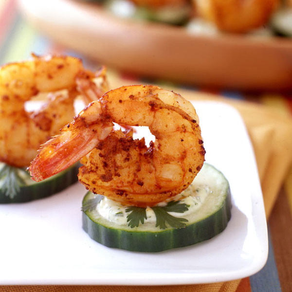 ... .com: Weight Watchers Recipe - Spicy Shrimp Rounds with Cilantro Mayo