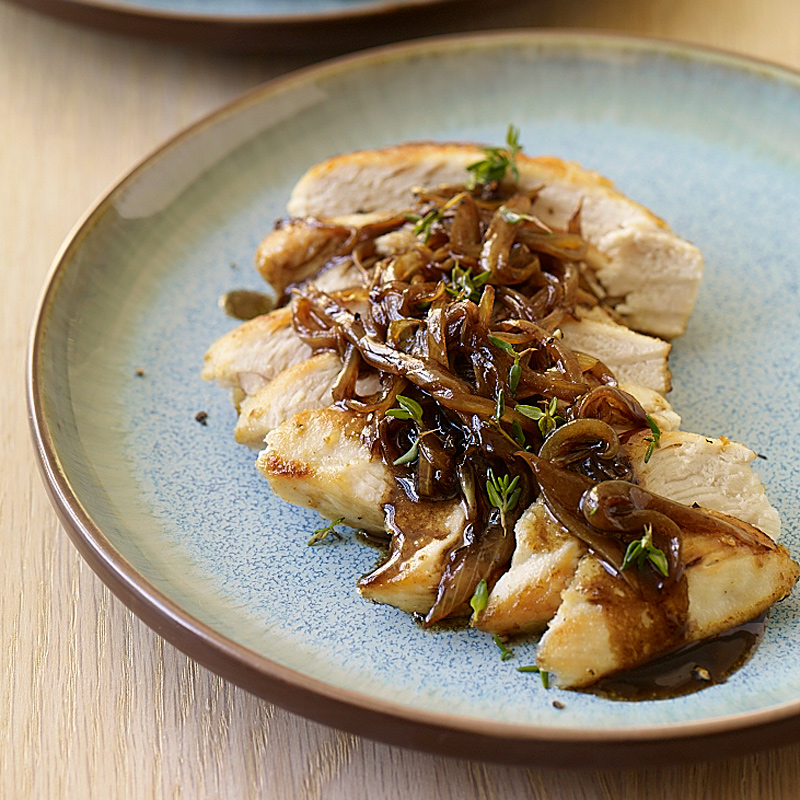 Chicken With Balsamic Vinegar Sweet Onions And Thyme Recipes Ww Usa