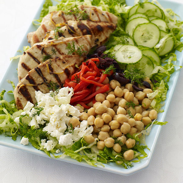 Photo of Greek lemon-dill grilled chicken salad by WW