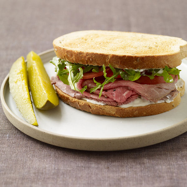 Photo of Roast beef sandwiches with horseradish mayo by WW