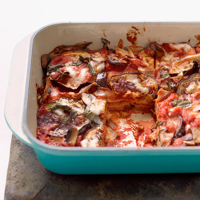 Photo of Roasted eggplant-mushroom lasagna by WW