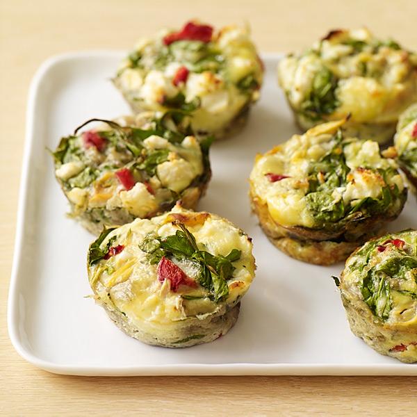 WW Spinach and Feta Frittatas | recipes | Pinterest