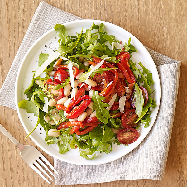 ... Weight Watchers Recipe - Arugula, Roasted Pepper and White Bean Salad