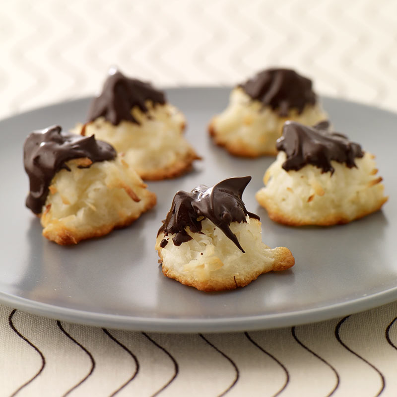 Photo of Chocolate dipped macaroons by WW