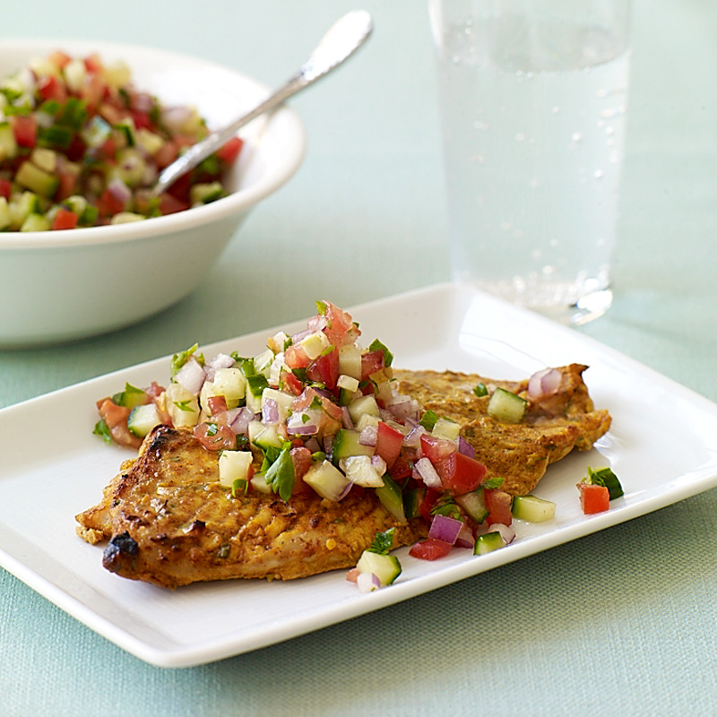 Photo of Indian-style red snapper with spicy-tomato relish by WW