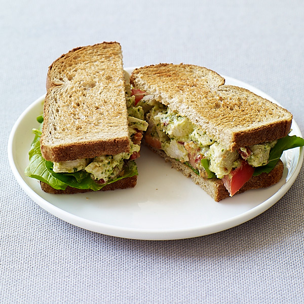 ... .com: Weight Watchers Recipe - Pesto Chicken Salad Sandwiches