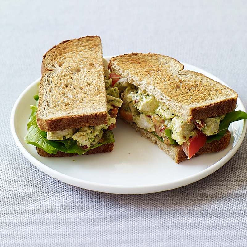 Pesto Chicken Salad Sandwiches | Recipes | Weight Watchers