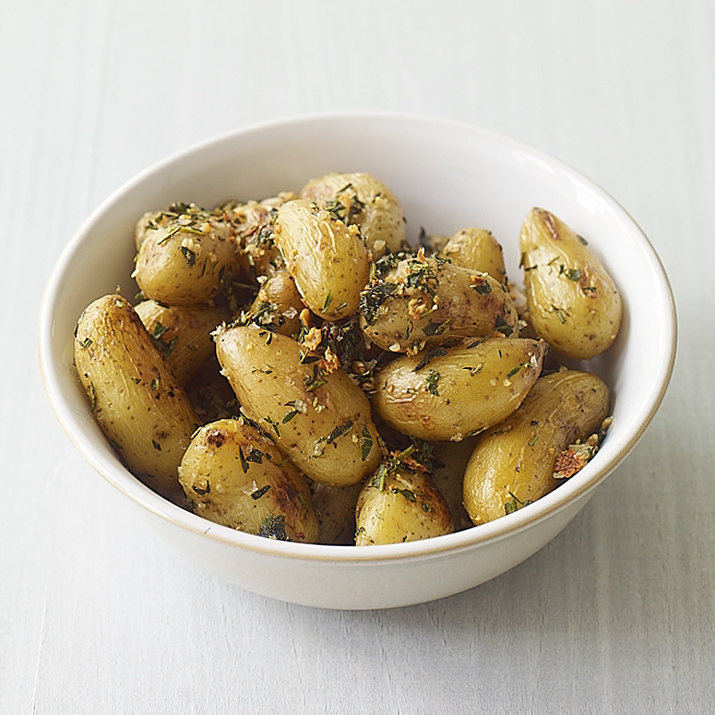 Photo of Roasted fingerling potatoes with herbs and garlic by WW