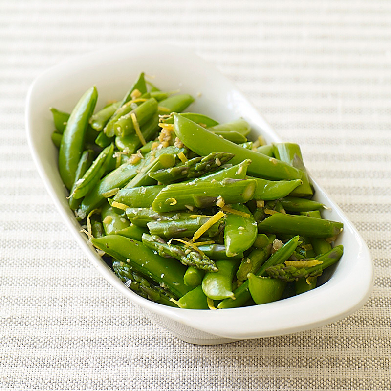Photo of Stir-fried asparagus  and sugar snap peas by WW