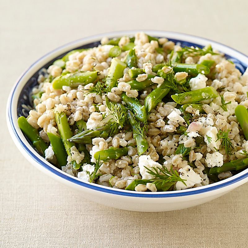 Photo of Farrotto with asparagus, feta and dill by WW