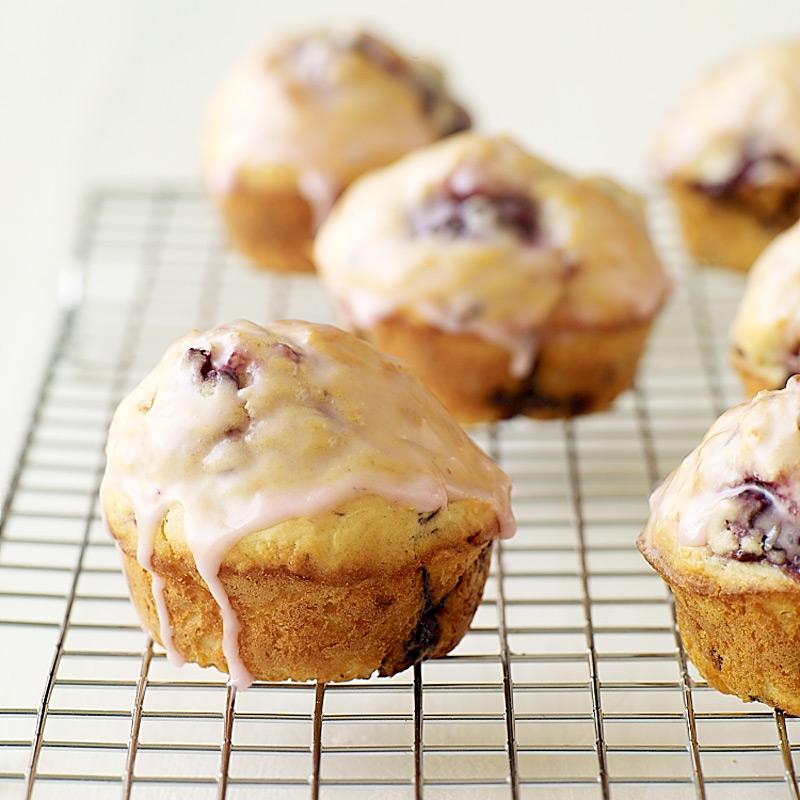 Photo of Glazed blackberry-lemon muffins by WW