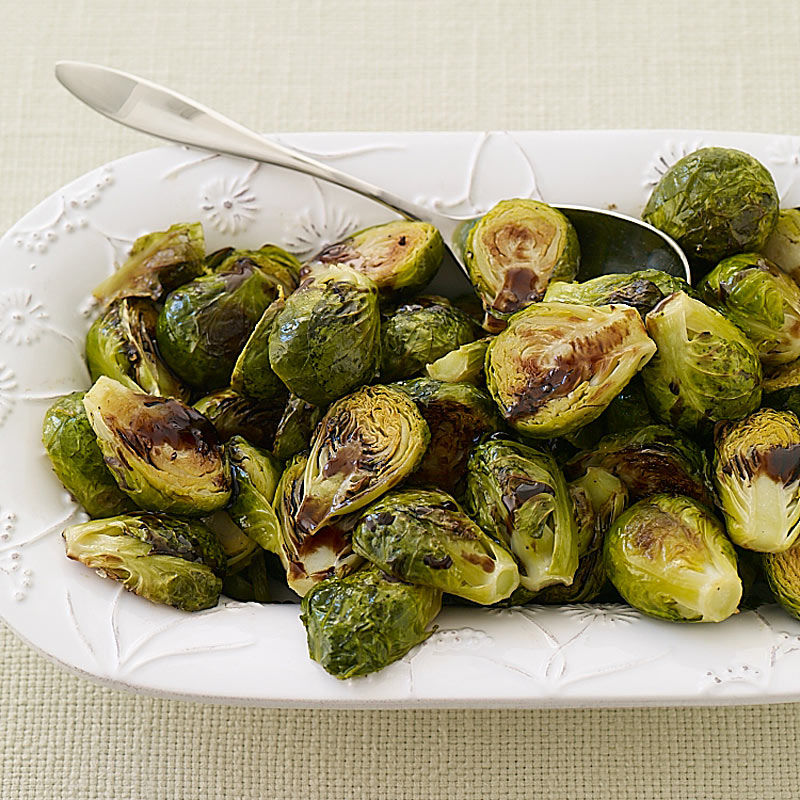 Photo of Roasted Brussels sprouts with maple-balsamic drizzle by WW