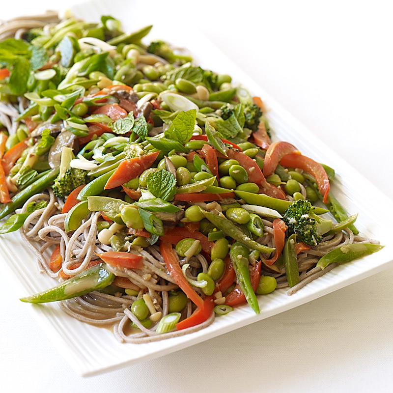 Photo of Soba Noodles with Edamame and Vegetables in Peanut Sauce by WW
