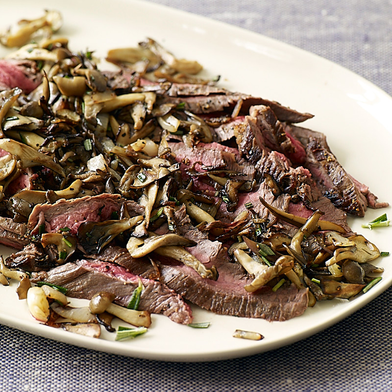 Photo of Flank Steak with Mushrooms and Rosemary by WW