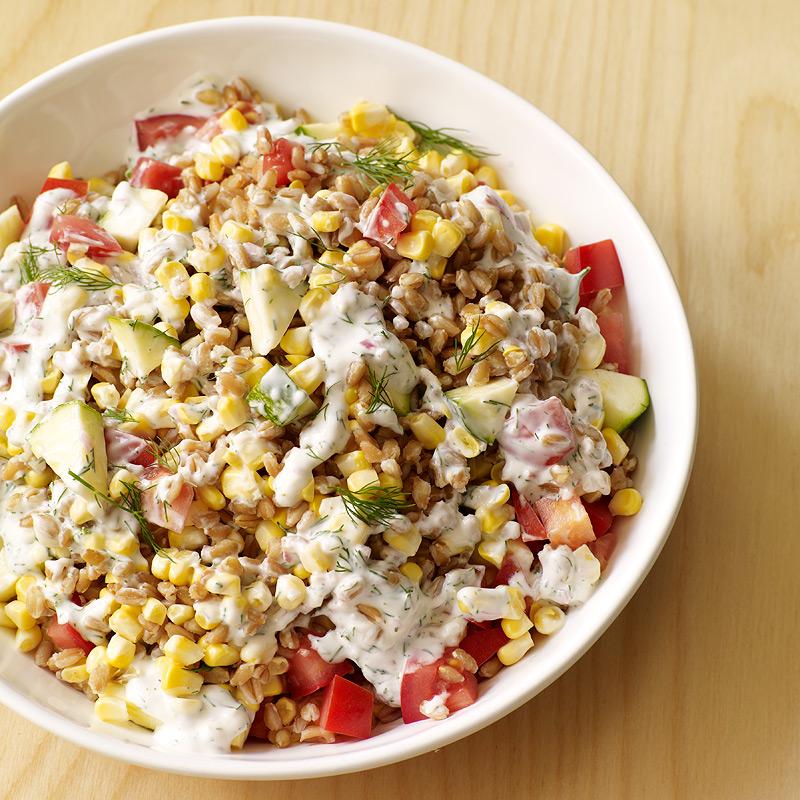 Summer Vegetable And Farro Salad Recipes Ww Usa