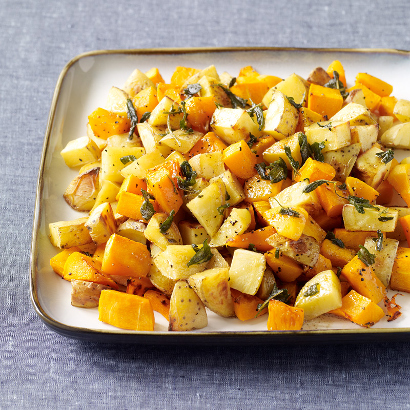 Photo of Butternut Squash and Yukon Gold Potatoes with Sage-Brown Butter by WW