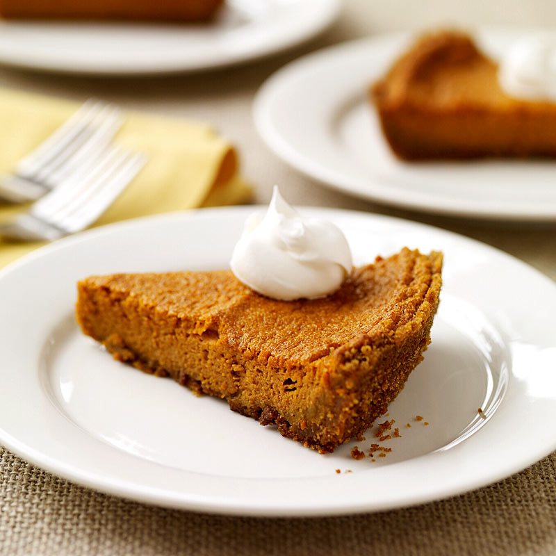 Photo of Pumpkin pie with graham cracker crust by WW