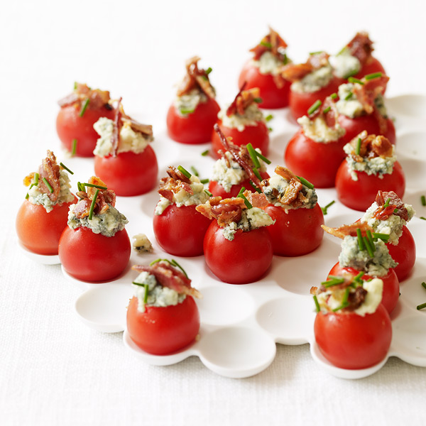 ... Watchers Recipe - Cherry Tomatoes Stuffed with Blue Cheese and Bacon