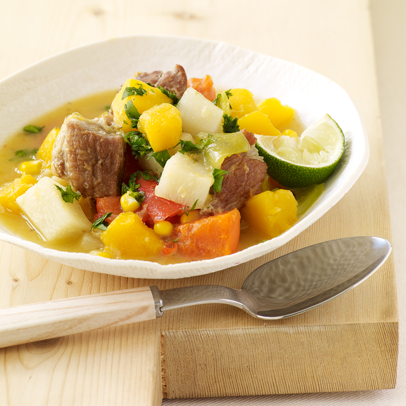 Photo of Dominican pork and root vegetable stew by WW