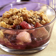 Photo of Pear and blueberry compote with oatmeal streusel topping by WW