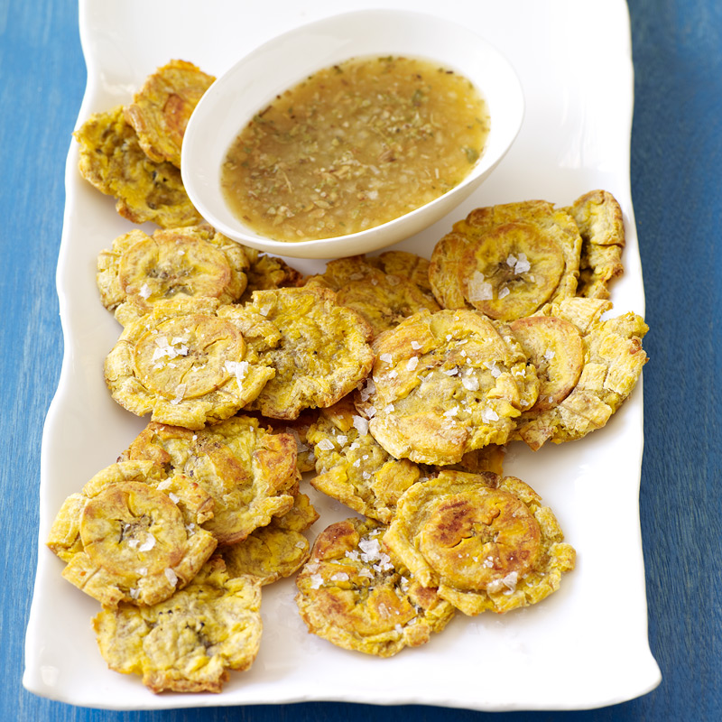 Crispy Roasted Tostones With Garlic Lime Mojo Recipes Ww Usa