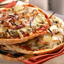 Photo of Fontina and roasted eggplant pita pizza by WW