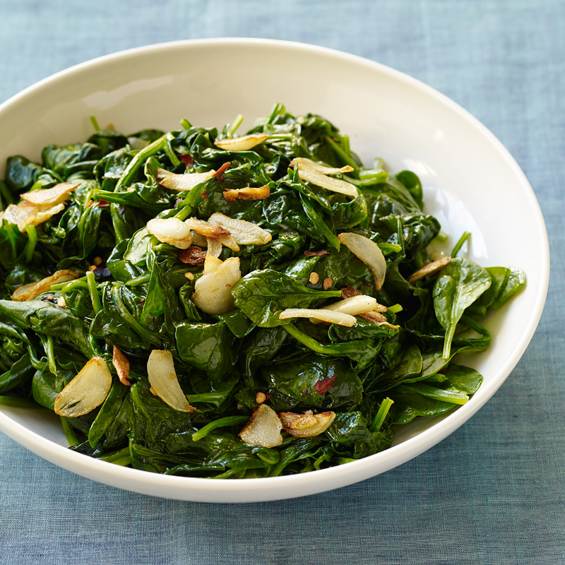 Photo of Sautéed spinach with crispy garlic by WW