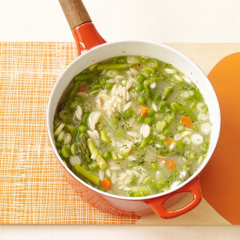 Spring Vegetable Soup With Orzo Recipes Ww Usa
