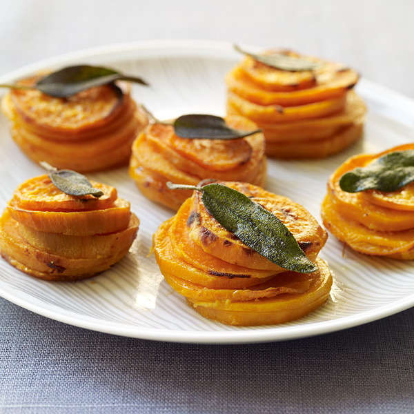 ... Weight Watchers Recipe - Sweet Potato Stacks with Crispy Sage Leaves