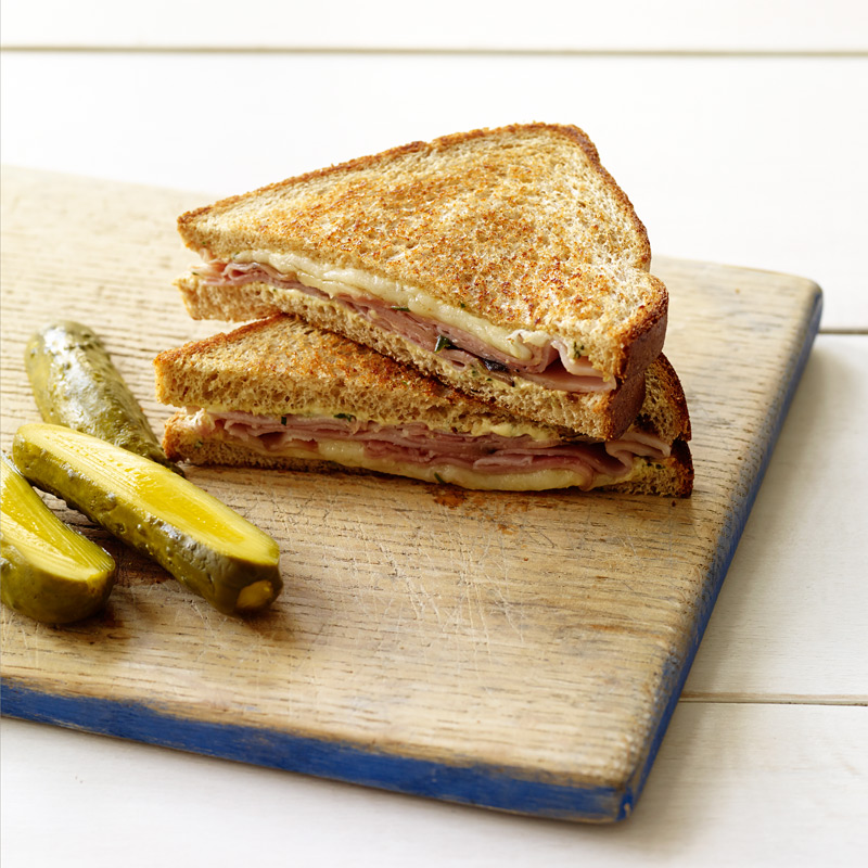 Photo of Grilled ham & cheese with rosemary-Dijon spread by WW