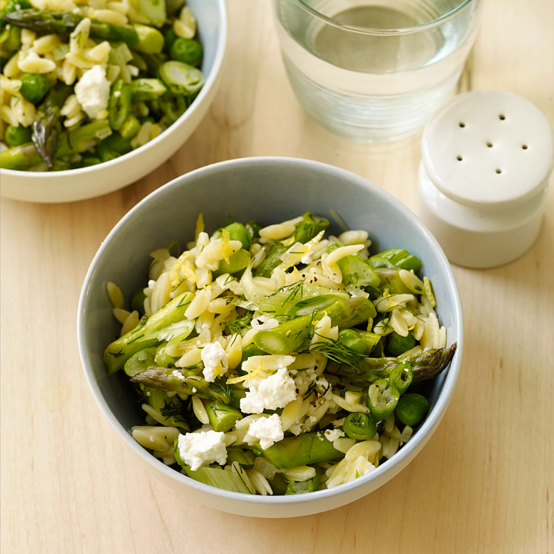 Photo of Orzo with lemon, asparagus, and peas by WW