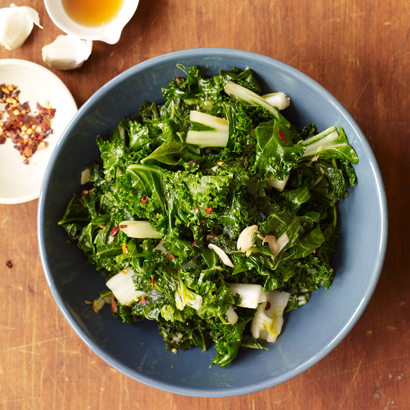 Photo of Stir-fried kale and bok choy by WW