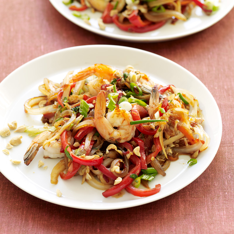 Photo of Thai shrimp and vegetable stir-fry by WW