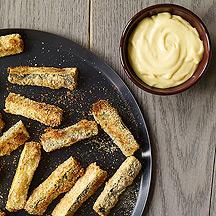 Photo of Zucchini sticks with honey mustard mayo by WW