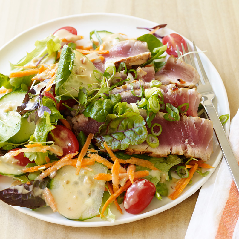 Photo of Asian Grilled Tuna Salad with Creamy Ginger Dressing by WW