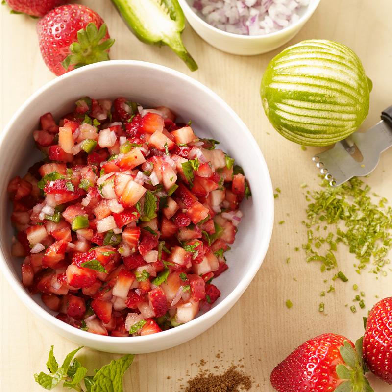 Photo of Fresh strawberry salsa by WW