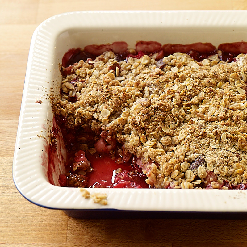 Photo of Rhubarb cherry crumble by WW