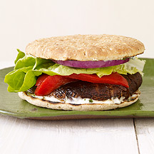 Photo of Grilled portobello burger with basil mayo by WW