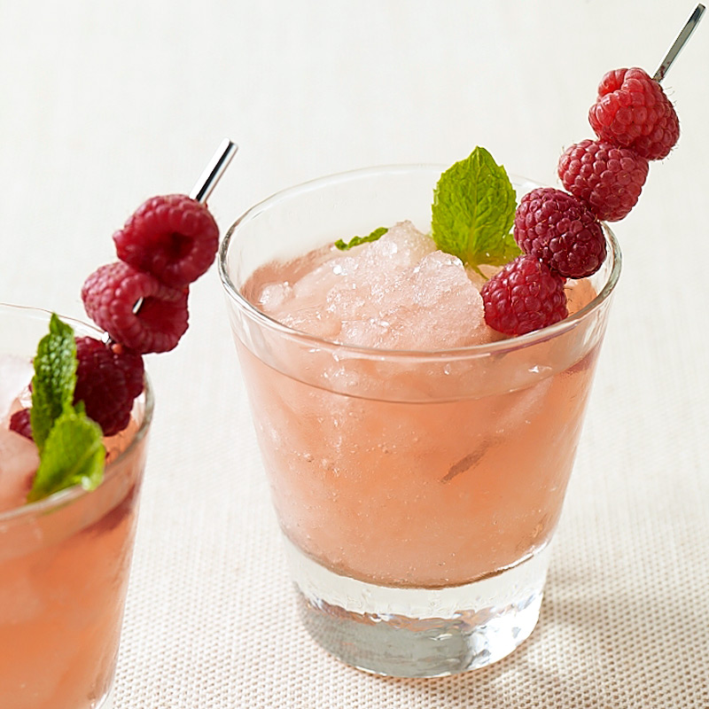 Photo of Raspberry-lemonade vodka slushies by WW
