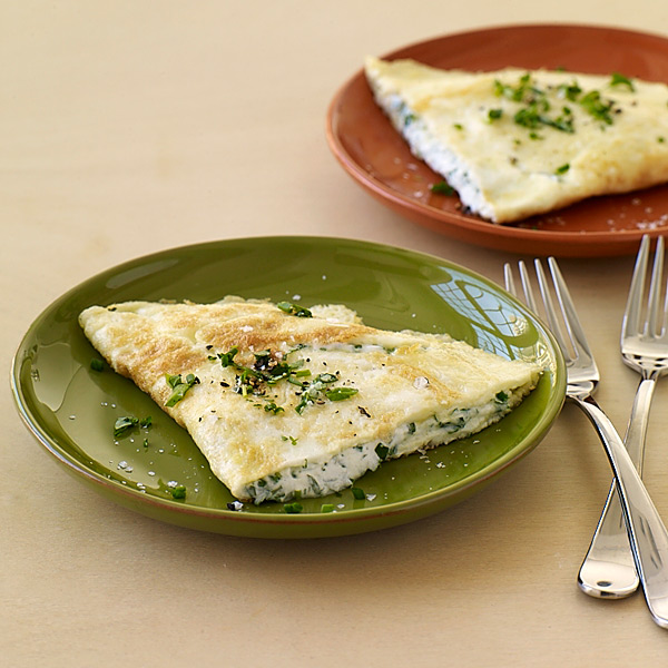 Goat Cheese And Fresh Herb Omelet Recipe — Dishmaps