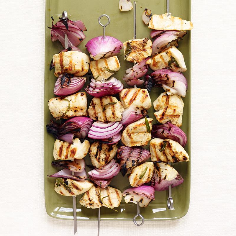 Photo of Tarragon-Dijon Chicken Kebabs by WW