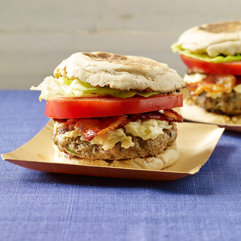 Photo of Bacon and cheese turkey burgers by WW