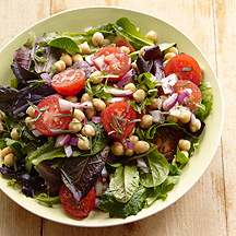 Photo of Mixed green and chickpea salad with Dijon-tarragon vinaigrette by WW