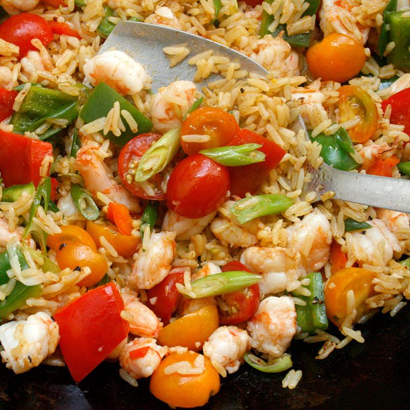 Photo of Shrimp paella stir-fry by WW