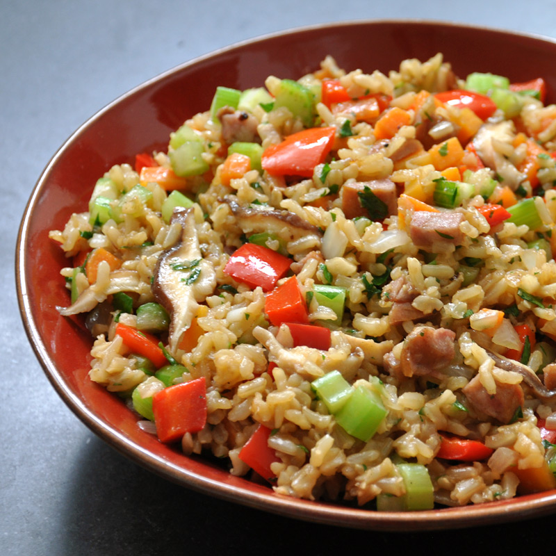 Photo of Rice stuffing with sausage and shiitake mushrooms by WW
