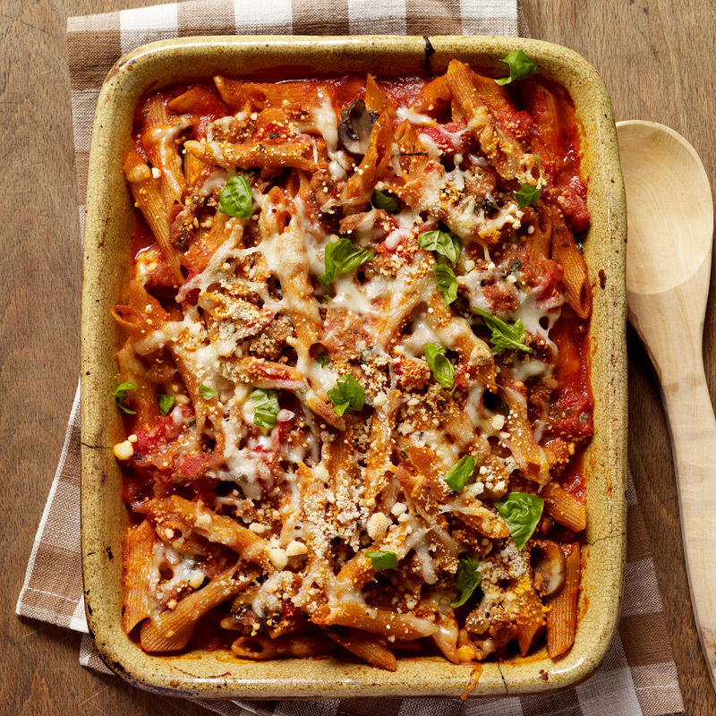 Photo of Baked Penne with Turkey, Mushroom and Roasted Pepper Ragu by WW