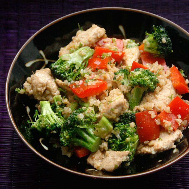 Photo of Chili-lime chicken stir-fry with bulgur by WW