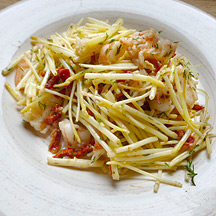 Photo of White Asparagus Salad with Shrimp and Sun-Dried Tomatoes by WW